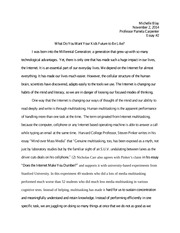 Essay #2 (critical thinking) copy