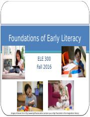 Ch 1-Foundations Emergent Literacy