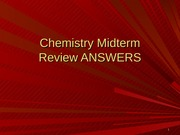 Chemistry Midterm review answers