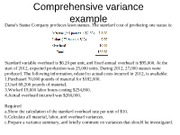 Additional slide for chapter 11Comprehensive variance example