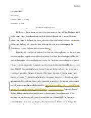 American History Essay Final Draft