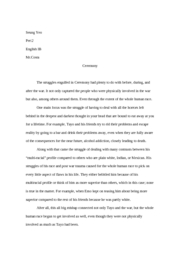 essay for ceremony