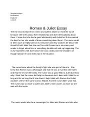 Romeo and juliet paragraphs
