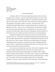 Concert Review Paper: The Stryker/Slagle Band