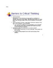 barriers to critical thinking hum 114 Hum/114 version 5 critical thinking in everyday life students devise strategies to recognize and overcome external and internal critical thinking barriers by exploring the puppeteer theory: family, friends faculty notes hum/114 version 5 11 title: faculty notes subject.