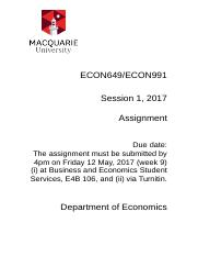 ECON649_ECON991_Common_Assignment_S1_2017
