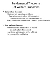 XET 306 TOPIC 2 Welfare Theorems