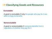 Chapter 17 Classifying Goods and Resources