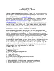 mba642Proctored Exam review sheet