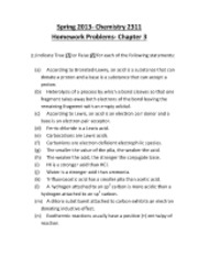 Chemistry+2311-+Spring+2013-+Homework+Problems-+Chapter+3