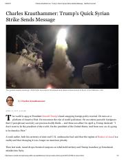 Charles Krauthammer_ Trump's Quick Syrian Strike Sends Message - Hartford Courant.pdf