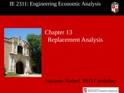Lec 26 - Ch13 - Replacement Analysis