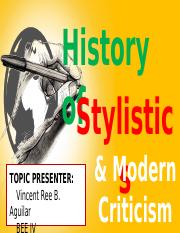 History of Stylistics and Modern Criticism - Copy.pptx