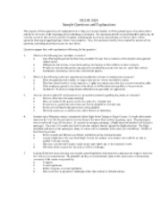 BCOR 3000 Exam 1 Sample Questions Summer 2012