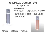 Chapter 16, chemical equalibrium