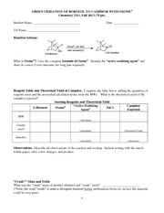 Oxone Worksheet