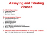 L5 Assaying and TitratingViruses