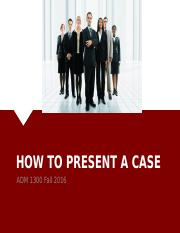2. How To Present A Case 2016