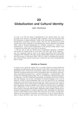 Globalization and cultural identity