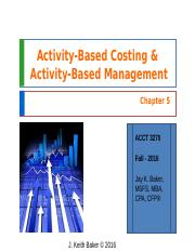 Chapter 5 - Cost Accounting - JKBaker