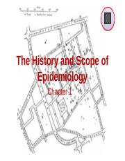 1 History & the field of Epidemiology