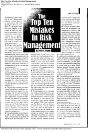 Article_-_Top_10_Mistakes_in_Risk_Manage