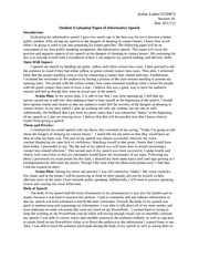 speech self evaluation essay Informative speech self -evaluation monday doing the formal outline helped a lot with the research and overall organization for the informative speech.