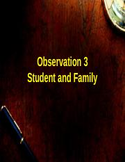 Observation 3 Student and Family Vocab.ppt