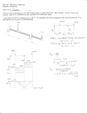 Exam 3 Solution Spring 2012 on Mechanics of Materials
