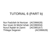 tutorial 6 part b