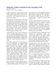 2013-01-07 - Monetary regime transition in the emerging world