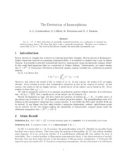 The Derivation of Isomorphisms