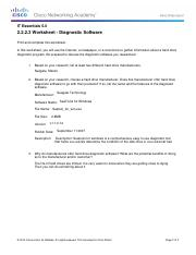2.2.2.3 Worksheet - Diagnostic Software