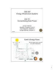Lecture15 Concentrating Solar Power for Energy Infrastructual system