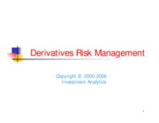 Derivatives Risk Management