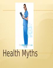 Health Myths PP