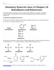 Chemistry Notes for class 12 Chapter 11 Alcohols, Phenols