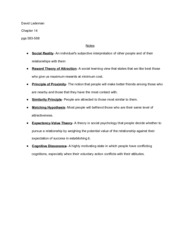 Chapter 14 Study Guide