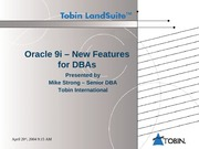 Oracle9iNewFeatures