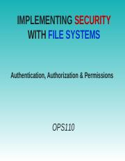 Week 6a File System Security_Authenticate & Authorize(1)