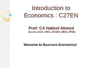 Lecture 1_Introduction to Economics