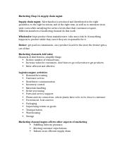 Marketing chap 16 supply chain mgmt.docx