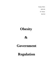 Government Regulation Cover Page