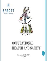Health and Safety Session 12