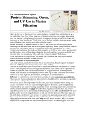 protein skimming ozone and uv use in marine filtration