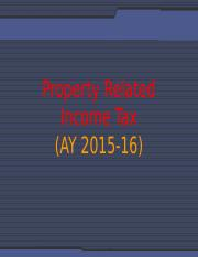 Sessions 07_Property Related Income Tax