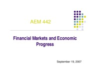Financial Markets & Economic Progress Nomathemba Mhlanga