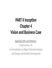 Chapter  4 Vision and Business Case CSC 3380.pptx