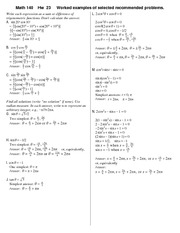 Homework 23 Solution on Precalculus