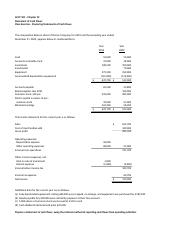 Statement of Cash Flows - exam